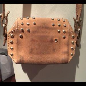 Sonia Rykiel Bags - Sonia Rykiel Camel Leather Studded Cross Body Bag